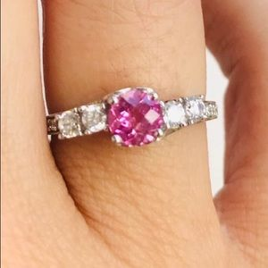 Jewelry - Sterling pink sapphire ring
